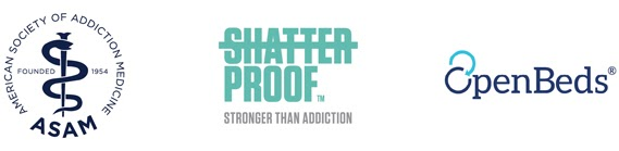American Society of Addiction Medicine, Shatterproof, and OpenBeds